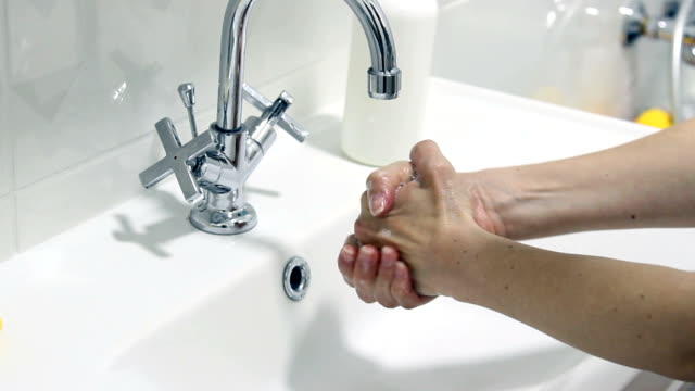 Washing Hand With Funny Sound Squeezing Hand.