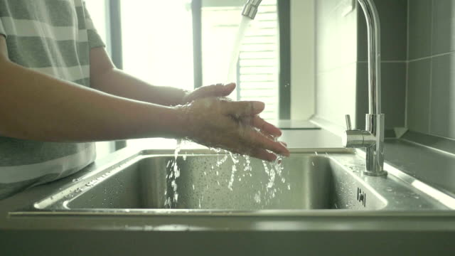 Washing hands under running water,Slow motion Washing hands under running water,Slow motion dishwashing liquid stock videos & royalty-free footage