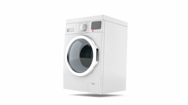 waschmaschine, prellen - waschmaschine stock-videos und b-roll-filmmaterial