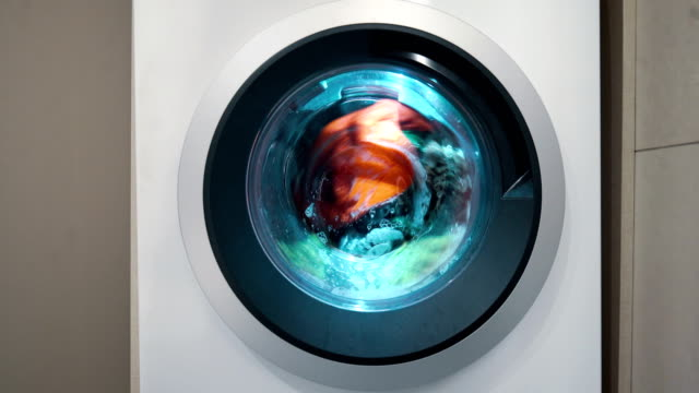 washing machine in use 4k. - lysol stock videos & royalty-free footage