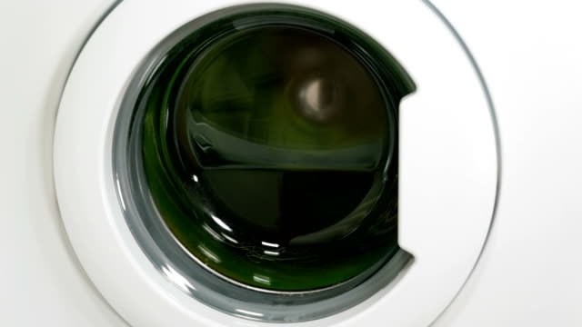 Washing machine is washing clothes video