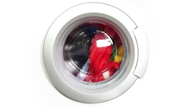 waschmaschine-zeitraffer - waschmaschine stock-videos und b-roll-filmmaterial