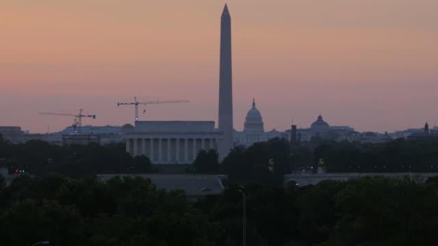 Washington DC at Sunrise video
