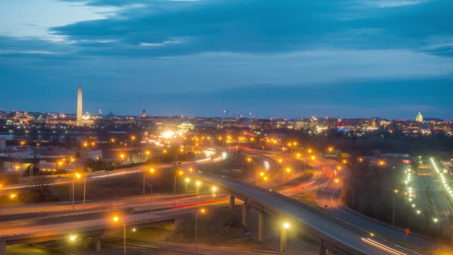夕暮れ、ワシントン市街のスカイライン - 合意点の映像素材/bロール