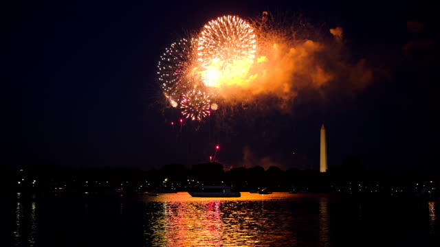 washington dc fireworks - 4th of july stock videos and b-roll footage