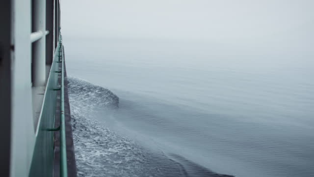 washington feribot tekne görünümü puget sound sis - seattle stok videoları ve detay görüntü çekimi