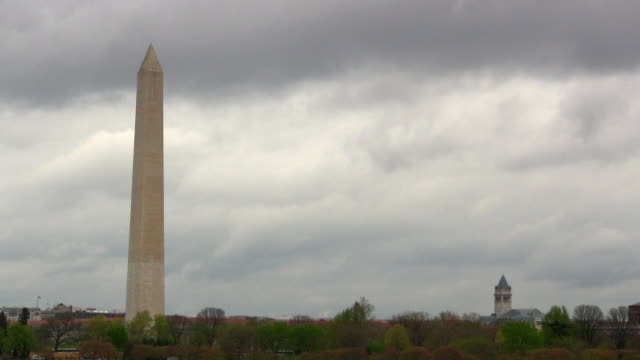Washington monument and Post office tower video