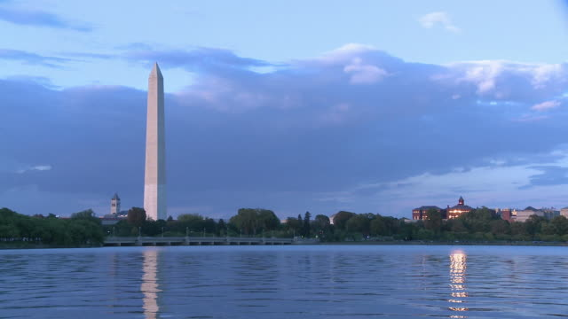 Washington Monument at Dusk video