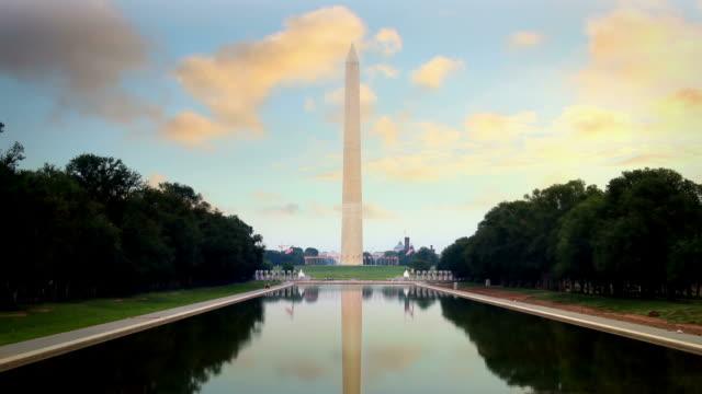 washington monument - obelisk stok videoları ve detay görüntü çekimi