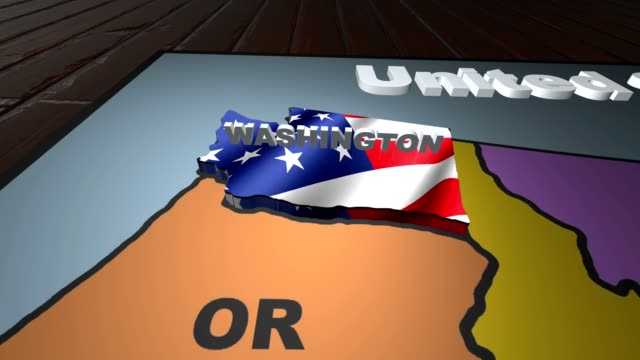 Washington pull out from USA states abbreviations map video