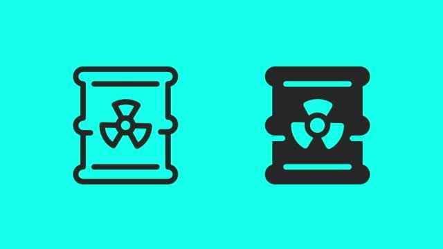 Waste Barrel Icons - Vector Animate Waste Barrel Icons Vector Animate 4K on Green Screen. biofuel stock videos & royalty-free footage