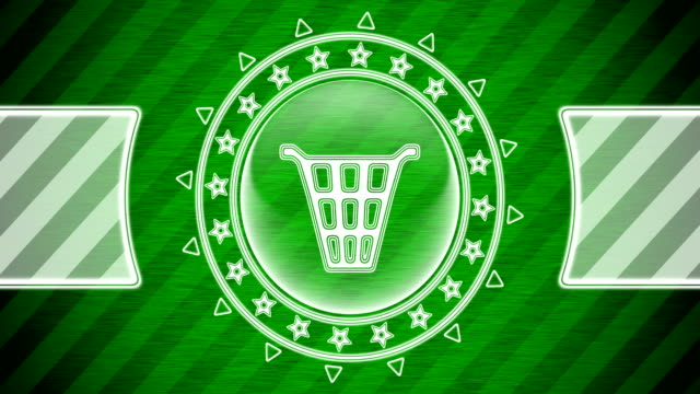 Waste can icon in circle shape and green striped background. Illustration. Looping footage. website design stock videos & royalty-free footage