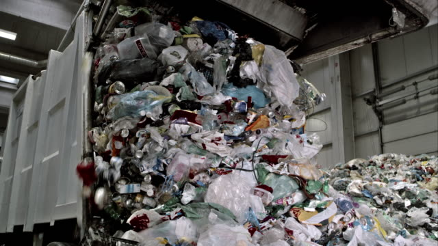 Waste falling from the garbage truck video