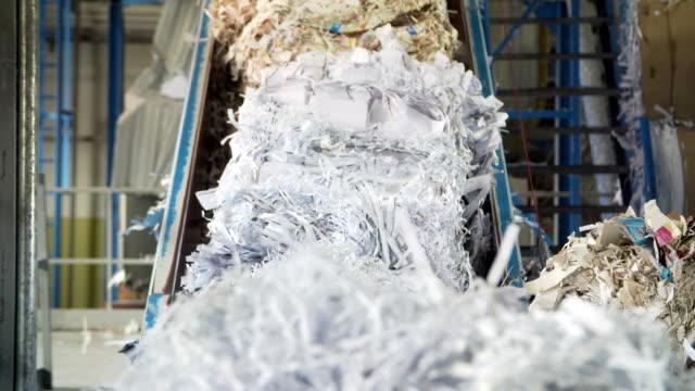 waste paper recycling mill - odzyskiwanie i przetwarzanie surowców wtórnych filmów i materiałów b-roll