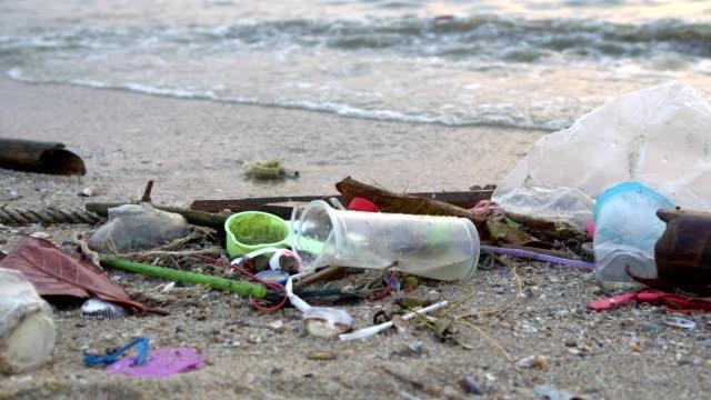 Waste pollution on beach