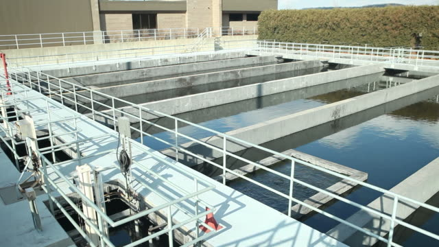 Waster Water Treatment Plant Chlorination Basins video