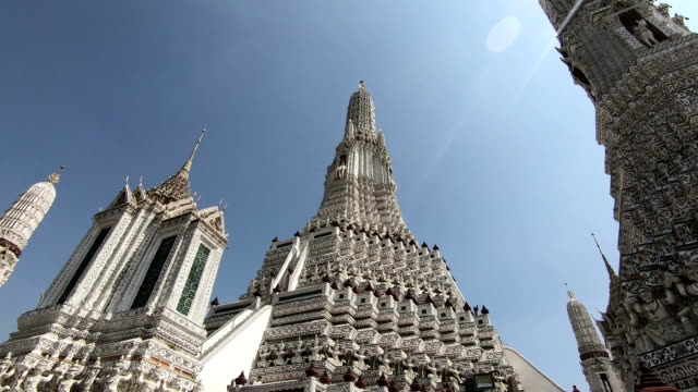Wat Arun or Temple of Dawn is a Buddhist temple in west bank of the Chao Phraya river Wat Arun or Temple of Dawn is a Buddhist temple in west bank of the Chao Phraya river. southeast stock videos & royalty-free footage