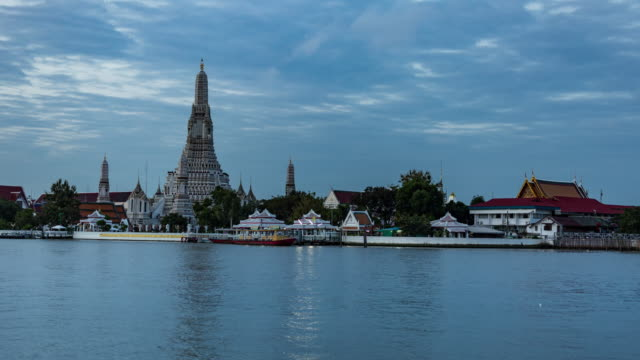 Wat Arun Temple Night to Day Timelapse video