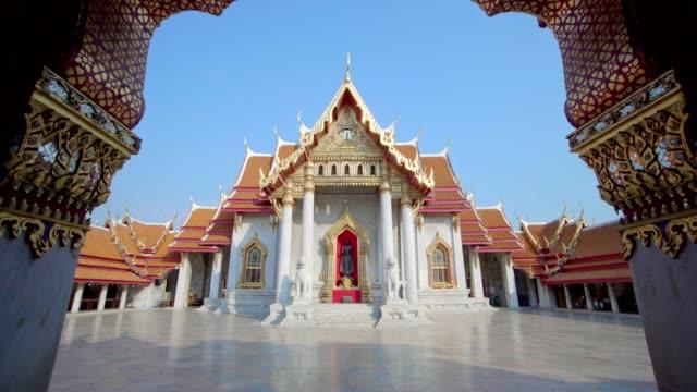 wat benchamabophit dusitvanaram - bangkok stok videoları ve detay görüntü çekimi