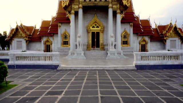 Wat Benchamabophit - Marble Temple Taken in Bangkok, Thailand in 2018 buddha stock videos & royalty-free footage
