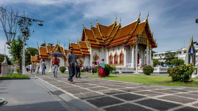 Wat Benchamabophit Temple Timelapse video