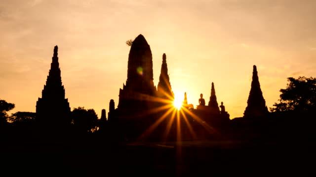 Wat Chaiwattanaram, the historical temple in Ayutthaya, Thailand video