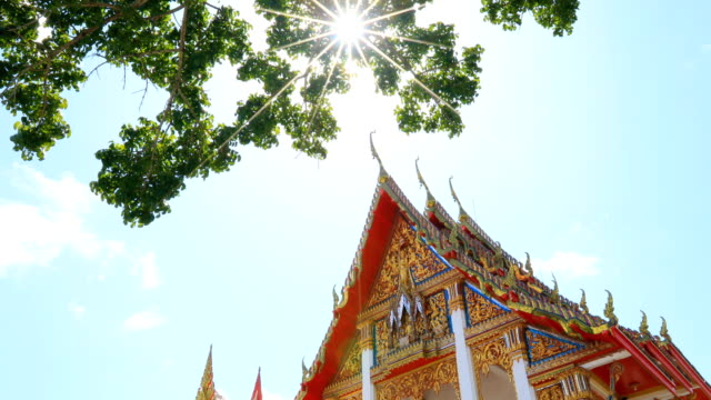 wat chalong a popular tourist destination at phuket thailand, 4k. - phuket video stock e b–roll