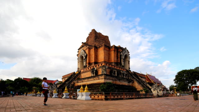 Wat Chedi Luang Temple in Chiang Mai Thailand
