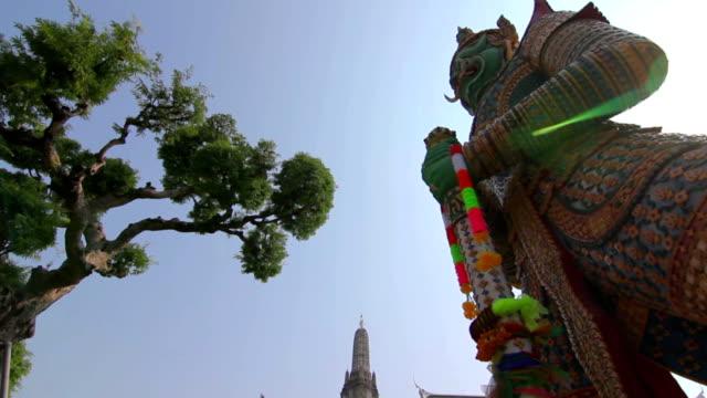 Wat Jaeng Giants sculpture at WAT ARUN TEMPLE video