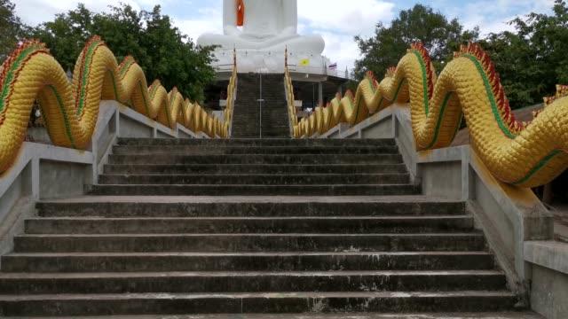 wat khao chong tschad reiseziel in thailand - religiöses symbol stock-videos und b-roll-filmmaterial