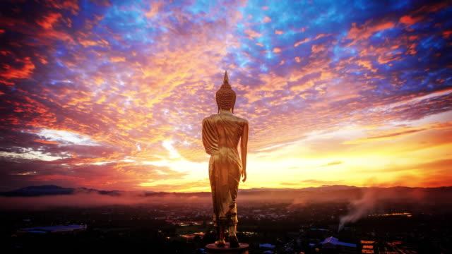 Wat Khao Noi Wat Khao Noi temple at sunrise, Nan Thailand buddhism stock videos & royalty-free footage