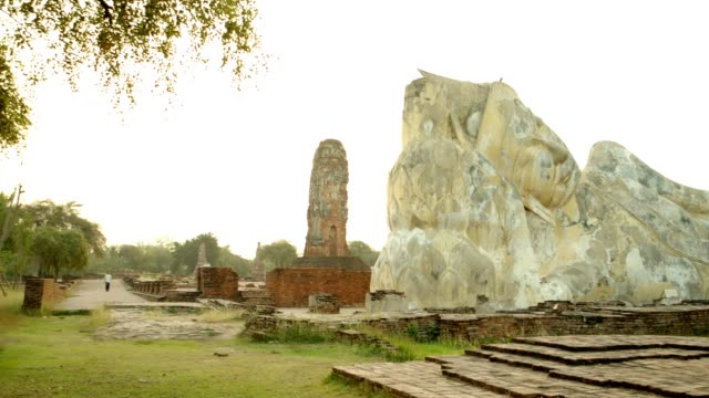 Wat Lokkayasutharam or Wat pranon is a Buddhist temple, Part of the Ayutthaya World Heritage Historical Park, Thailand most famous tourist place.