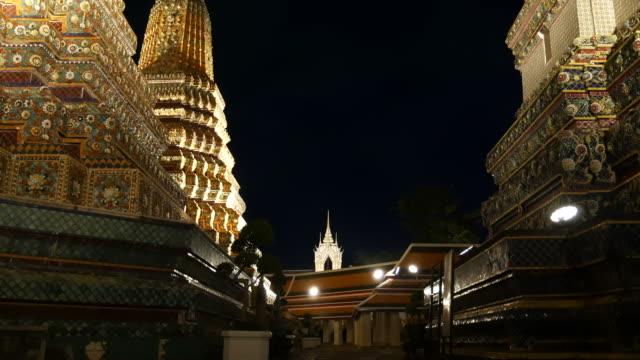 wat pho/yatan buda tapınağı, bangkok - stupa stok videoları ve detay görüntü çekimi