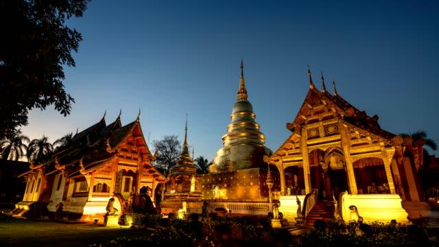 wat phra sing tempel, chiang mai, thailand tid förfaller. - thailand bildbanksvideor och videomaterial från bakom kulisserna