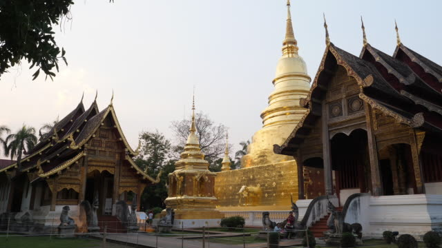 Wat Phra Singh Temple in Chiangmai province,Thailand