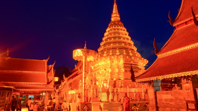 Wat Phra That Doi Suthep is tourist attraction of Chiang Mai, Thailand.Asia. video