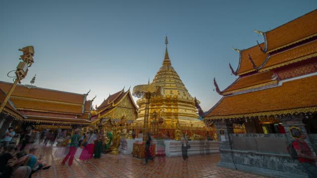 vídeos y material grabado en eventos de stock de lapso de tiempo wat phrathat doi suthep temple - sudeste
