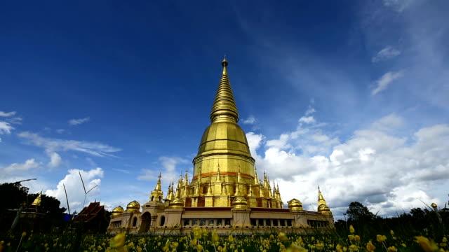Wat Prabudhabaht Huay Toom, Phamahatrad jade sri wiang chai at Li,Lamphun province,Thailand (Shwedagon pagoda Model) video