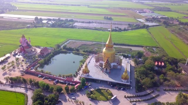 Wat Prong Arkad temple in Chachoengsao province,Thailand