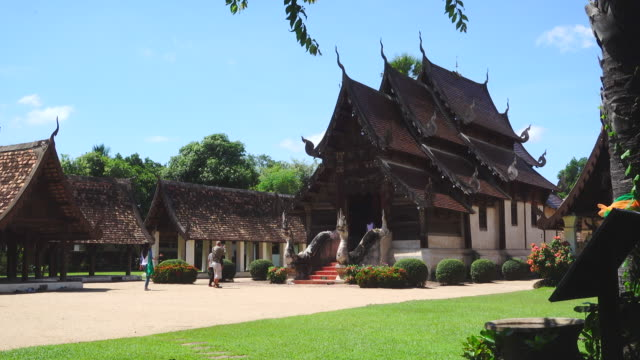 4K Wat Ton Kain (Ton Kain Temple) in Chiang Mai Thailand. It's one of the most famous temples in Chiang Mai province. video