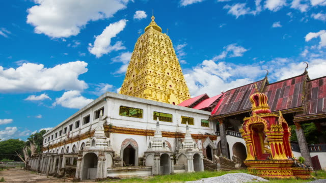 wat wang wiwekaram pagoda - wat video stock e b–roll