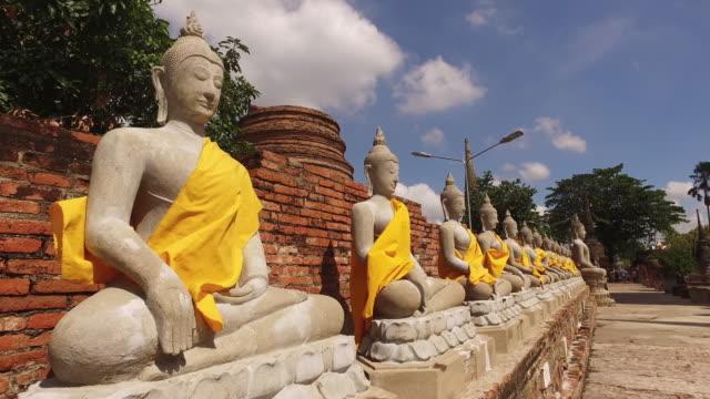 Wat Yai Chai Mongkhon in Ayutthaya ,Thailand video
