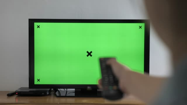 Watching Green screen TV and changing channel at home