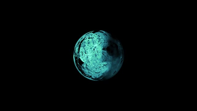 Water ball Animation of a water ball / water drop double refraction stock videos & royalty-free footage