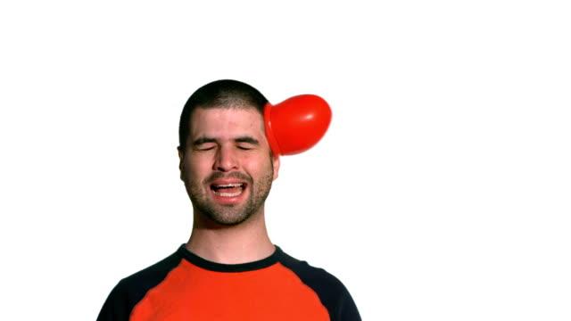 water balloon hits man in face - eksantrik stok videoları ve detay görüntü çekimi