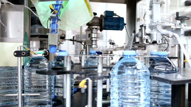 Water bottling factory video