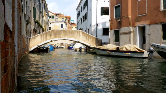 Water Canal of Venice, Italy. Narrow Streets of Venice video