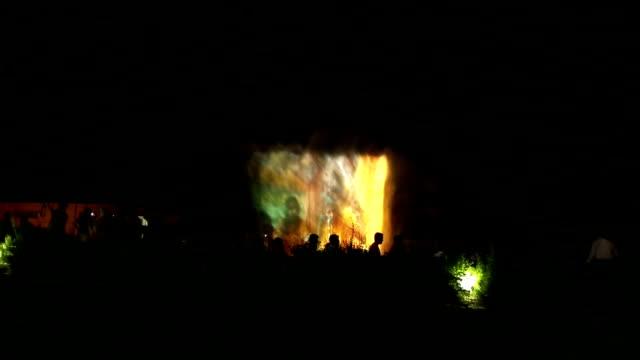 Water dancing show in Prem Mandir Fountain, Vrindavan/India