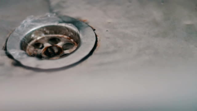 Water drains in the sink video