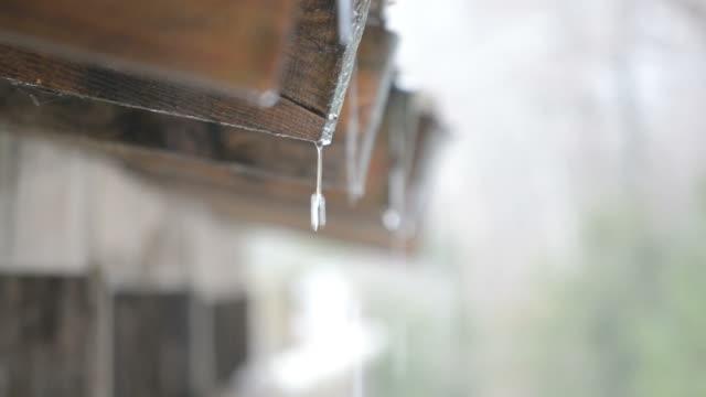 vatten droppande från taket - roof farm bildbanksvideor och videomaterial från bakom kulisserna